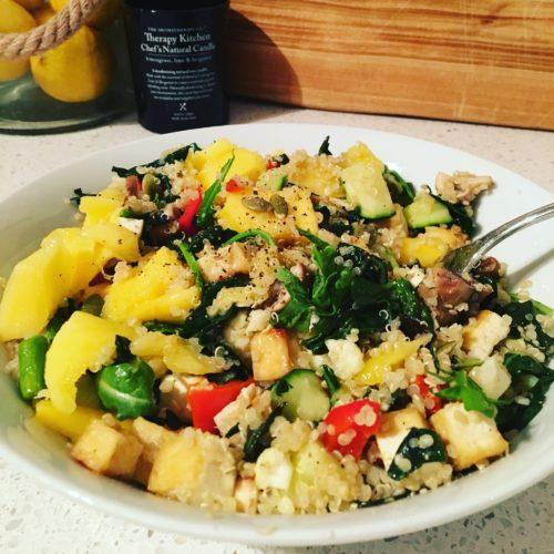 Mango, Chilli, Basil Quinoa_Brown Rice, Chickpea Salad
